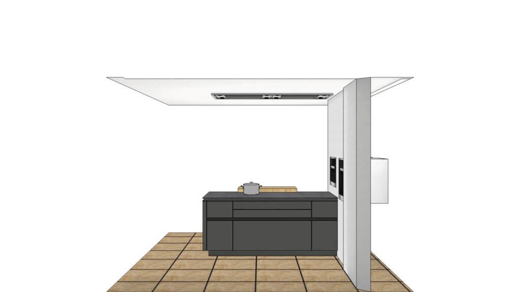 grifflose schwarze ausstellungsk che mit insel von leicht in wiesbaden im angebot k chenfinder. Black Bedroom Furniture Sets. Home Design Ideas