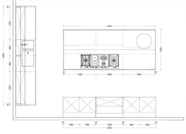 musterk che warendorf l 13 k che mit insel in wei hochglanz in wien im angebot k chenfinder. Black Bedroom Furniture Sets. Home Design Ideas