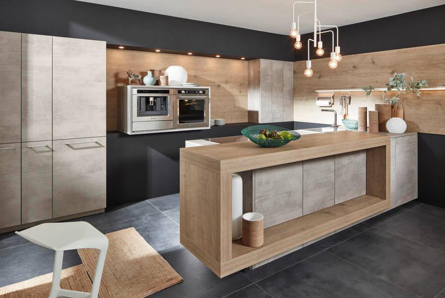 Nolte Küche mit Stein und Beton Look (NK22314). Foto: Nolte