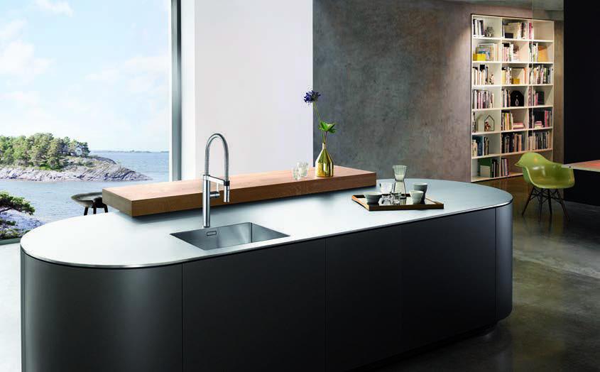 Besondere Edelstahl-Spülen: Gehobenes Design von BLANCO