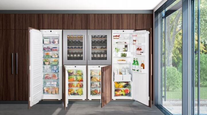 Kühl- und Gefriergeräte individuell kombinieren mit dem Liebherr-FrischeCenter