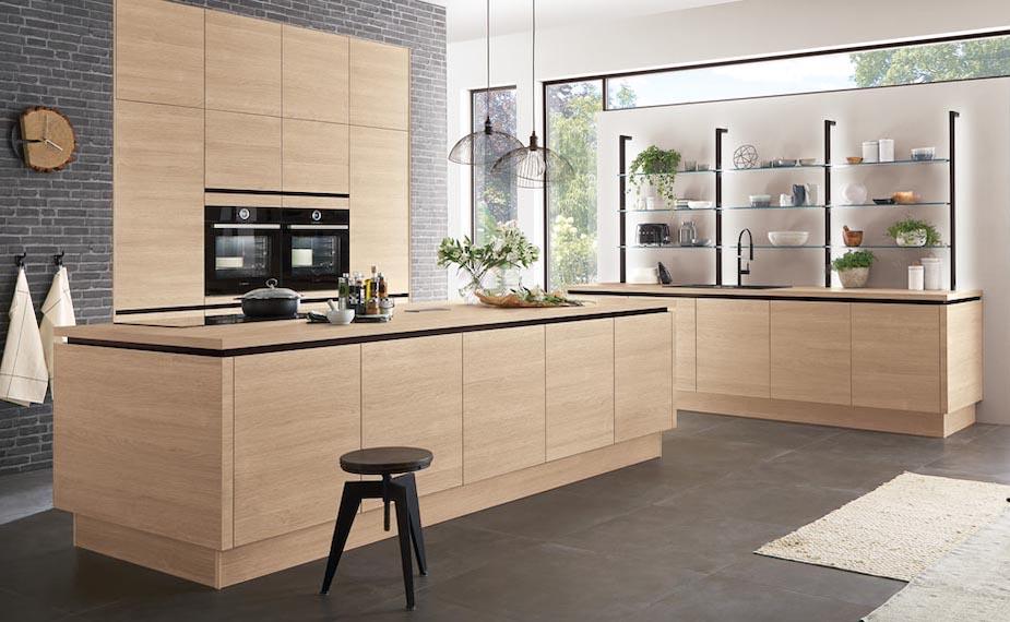 Holz in der Küche: Authentische und moderne Holz Dekore von nobilia