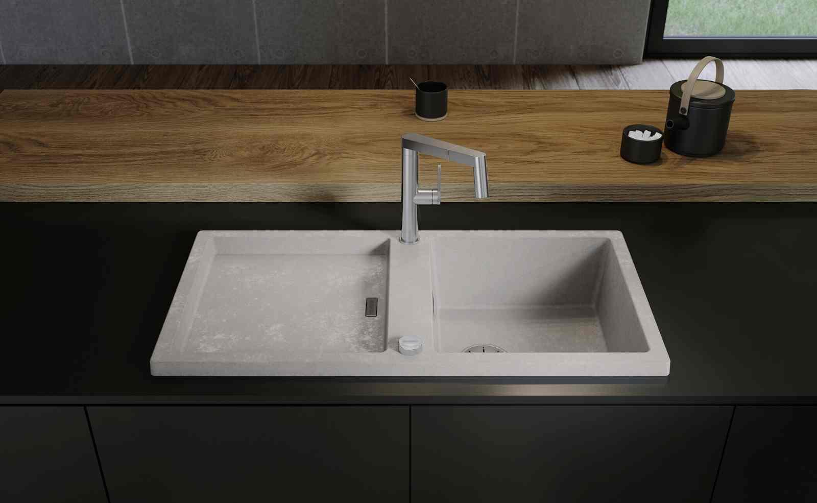 BLANCO Spülen Beton Style: Robust, pflegeleicht und authentisch