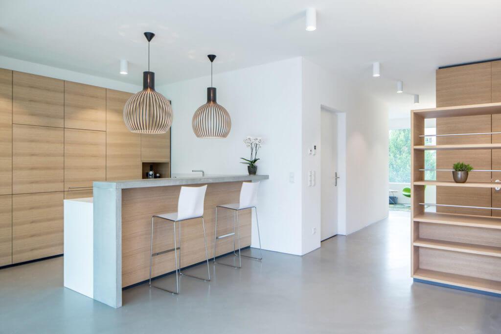 Häufig Moderne Küche mit Bar: 6 Ideen für eine Bartheke aus Holz, Stein XN71